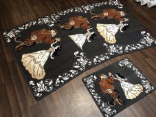 ROMANY GYPSY WASHABLES NEW DESIGNS DARK GREYS NON SLIP MATS BEST AROUND